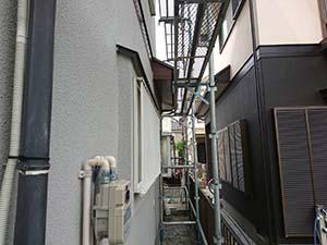 玉村町 コロニアル屋根と外壁スタッコ塗装 仮設足場