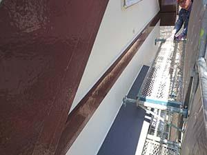 玉村町 屋根上塗り