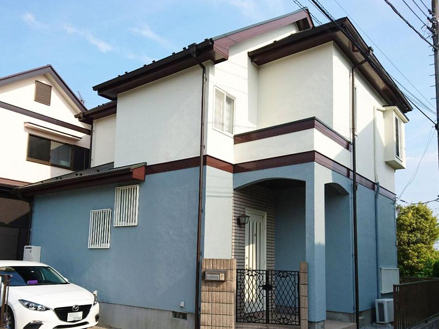 玉村町 スタッコ外壁塗装 施工事例