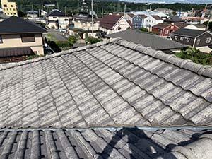 渋川市 モニエル屋根 洗浄後