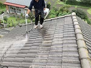 渋川市 モニエル屋根 洗浄