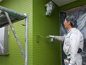 渋川市 外壁上塗り