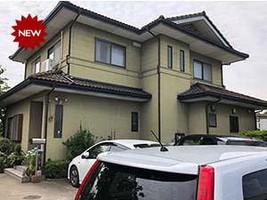 渋川市 モニエル屋根塗装とリシン外壁塗装