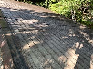 長野県軽井沢町別荘コロニアル屋根塗装 工事前