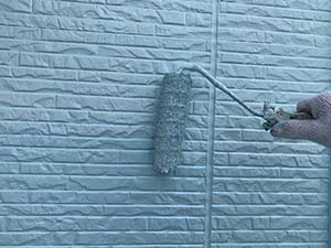 前橋市天川大島町 壁塗装 上塗り