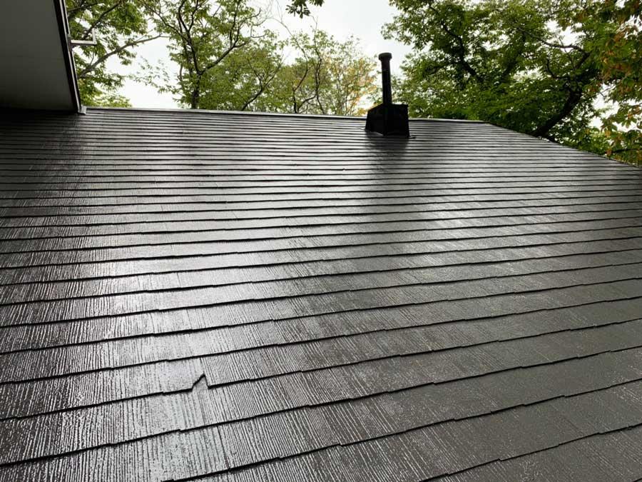長野県軽井沢町別荘コロニアル屋根塗装 施工事例