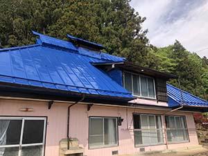 北群馬郡吉岡町M様 さん葺きトタン屋根塗装
