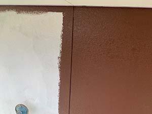 前橋市亀里町外壁塗装 1階中塗り