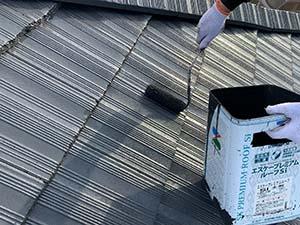 前橋市亀里町屋根塗装 上塗り2回目