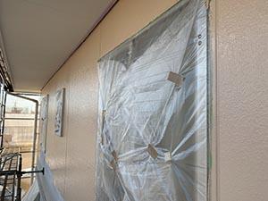 前橋市亀里町外壁塗装 2階中塗り