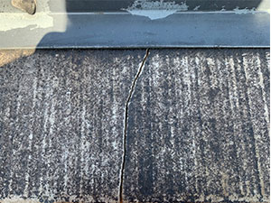 中之条町 コロニアル屋根割れ補修