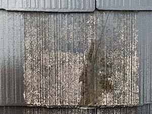 屋根クラック補修後