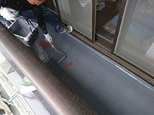 FRP防水トップコート塗布