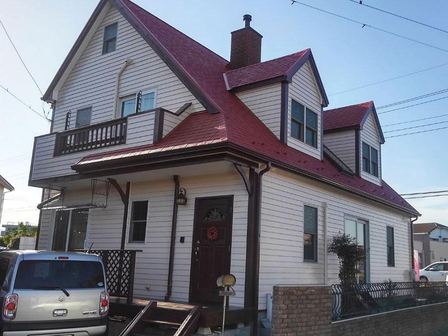 高崎市山名町I様 アスファルトシングル屋根とサイディング壁の塗装 施工事例