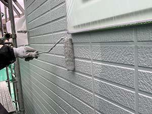 玉村町 外壁上塗り