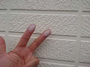 玉村町 外壁チョーキング現象