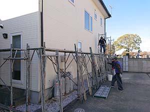 玉村町 外壁屋根アポリテック塗装 足場組立