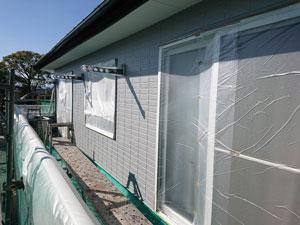 玉村町 外壁中塗り