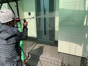 玉村町 外壁屋根アポリテック塗装 外壁洗浄
