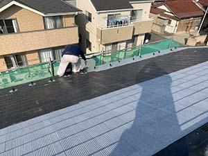 玉村町 屋根塗装 下塗り