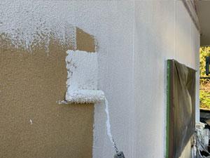 渋川市北橘町 リシン壁下塗り