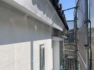 渋川市北橘町 リシン壁下塗り終了