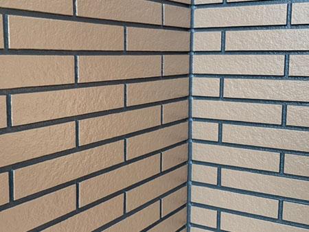 前橋市富士見町 外壁 二色塗分け塗装後 アップ
