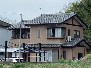 渋川市北橘町K様 モルタルリシン仕上の外壁塗装 完工