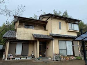 渋川市北橘町 モルタルリシン仕上壁塗装