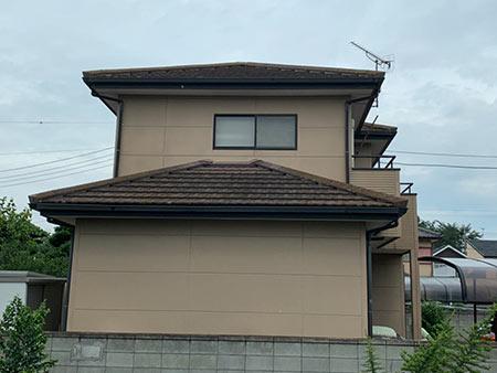 伊勢崎市富塚町 屋根外壁塗装前