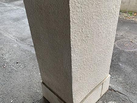前橋市 駐車場柱補修後