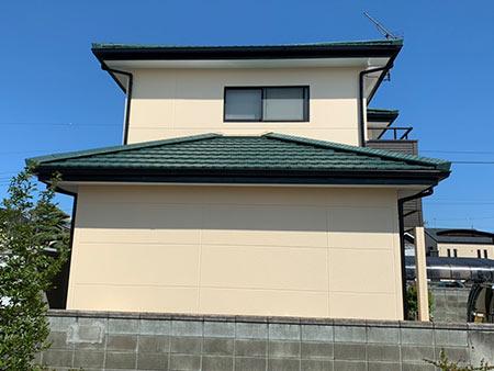 伊勢崎市富塚町 屋根外壁塗装後