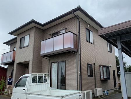 前橋市富士見町 外壁 二色塗分け塗装前