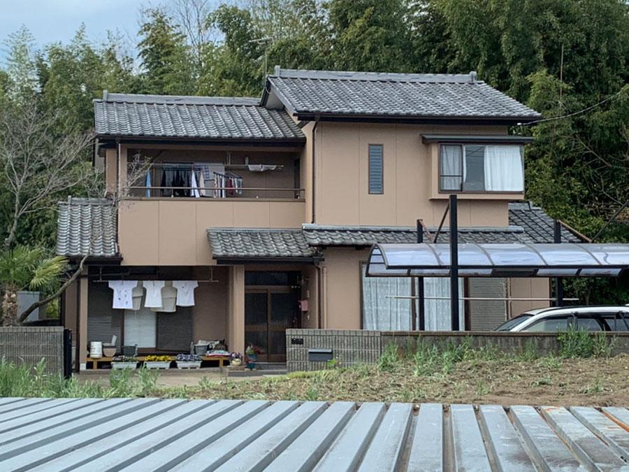 渋川市北橘町K様 モルタルリシン仕上の外壁アポリッテクペイント塗装