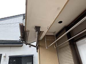 渋川市北橘町 モルタルリシン仕上壁塗装 軒天