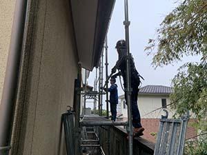 渋川市 外壁塗装 足場工事