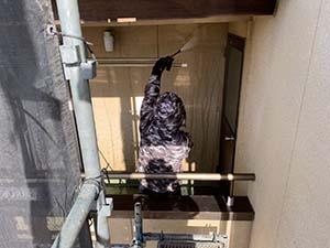 渋川市 外壁塗装 壁高圧洗浄