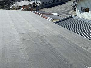 伊勢崎市 屋根カバー工法 ルーフィング