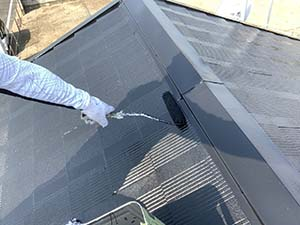 コロニアル屋根上塗り2回目