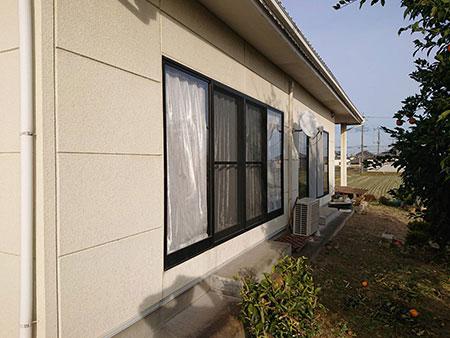 和モダン住宅 外壁塗装 前