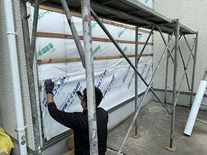 外壁防水シート補修