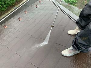 コロニアル屋根洗浄