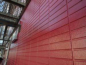 吉岡町 外壁上塗り後
