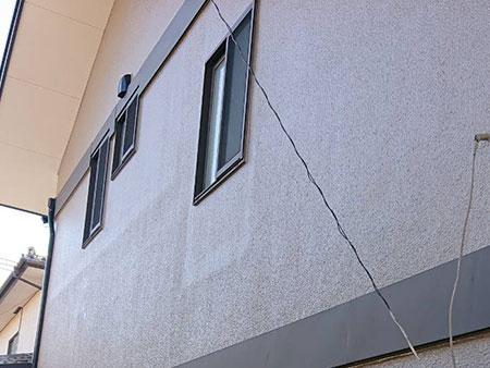 前橋市 モルタル外壁 クラック補修後