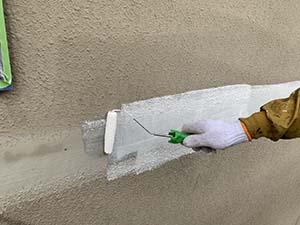 カチコテ補修箇所の下塗りシーラー