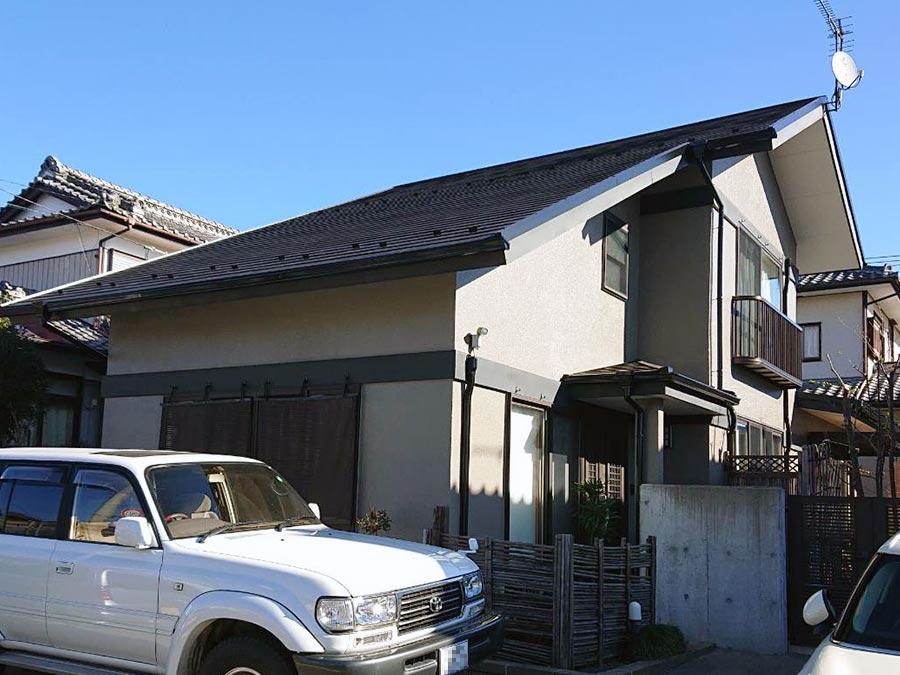 前橋市高花台 モルタル外壁塗装 施工事例