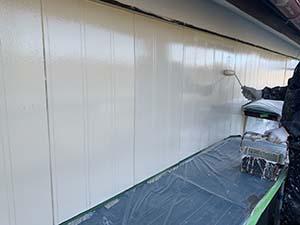 前橋市勝沢町 木製外壁塗装 上塗り