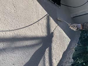 前橋市勝沢町 木製外壁塗装 下塗り