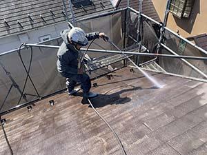 伊勢崎市 コロニアル屋根洗浄