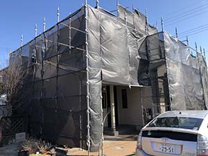 外壁塗装 足場工事 玉村町